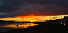 Findhorn Sunset (Lorna Watson) Tags: sunset reflection silhouette boats scotland moray findhorn
