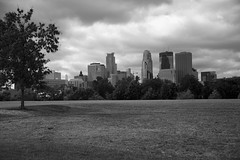 (HOARYHEAD) Tags: blackandwhite bw minnesota skyline clouds minneapolis boomisland minneapolismn minneapolisskyline nikond700 nikon28300mm