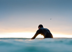 Sunset session (Phil Gibbs) Tags: sunset 50mm surf sandiego bokeh surfer oceanside swell d300s