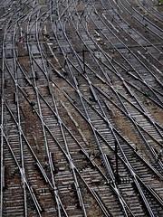 Aiguillages - Points, Gare Saint Lazare, Paris (blafond) Tags: rain saintlazare tracks pluie rail points rails notraffic aiguillages