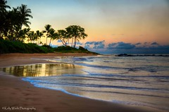 Keawakapu Beach (Kelly Wade Photography) Tags: trees beach sunrise landscape hawaii sand maui palm kihei wailea keawakapu nikonkell kellywadephotography