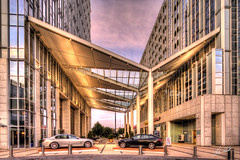 Terminus Court (Mr_Pixels) Tags: city morning atlanta urban building architecture canon court corporate early break photographer display metro roundabout structures bmw rest buckhead foodcourt hdr vibrance terminus upscale awp shif awphoto awphotography aubreywilliams 5dmarkiii promotecontrol eftse17mmf4l