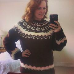 Womens Icelandic Lopi wool sweater (Mytwist) Tags: winter wool girl female iceland warm weekend craft isle pullover handcraft ragazza icelandic lopi crewneck icelandicsweater peysa lopapeysa slensk lopapeysur pltulopi handgestrickt woolfreaks istex icelnder lapapeysa lopapeysunni