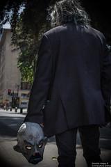 (. . .) Tags: chile santiago portrait canon dark lens zombie walk retrato clown scene joker knight kit recreation angular payaso marcha 18mm guason 60d