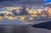 Cloudy sky (Vagelis Pikoulas) Tags: blue winter light sunset sea sky sun mountain mountains west colour reflection beach night clouds canon landscape eos kiss europe view cloudy greece porto western 1855mm x4 2012 attiki vilia germeno 550d colorphotoaward mygearandme kithairwnas