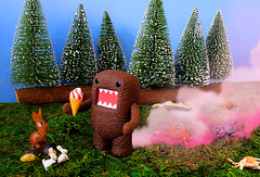 Ice cream!!! (DollyBeMine) Tags: pink cute rabbit bunny nature animals japan forest toy japanese miniature tv woods funny character cartoon explosion deer mascot icecream fox domo fart figure domokun creature farting qee nhk poseable toysundayexplosions