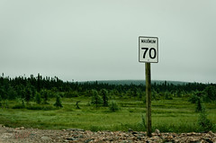 Speed limits : are you sure? (WhiteFlowersFade) Tags: voyage travel canada landscape nikon labrador plateau north roadtrip paysage bog nord d7k d7000 mealymountains fondrire