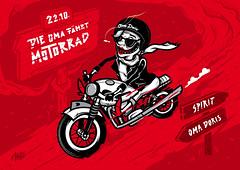 Die Oma fährt Motorrad (AARTO.) Tags: party motorcycle granny aarto