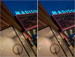 Readymade at the Madison Theater (anobjectn) Tags: urban sculpture art window architecture stereoscopic stereophotography 3d crosseye upstate upstateny madison readymade albany tribute chacha windowdisplay albanyny duchamp hdr exhibits marcelduchamp bicyclewheel 3dimensional madisontheater crossview readymades crosseyedstereo 3dphotography 3dstereo rouedebicyclette takenoffthestreet madisontheateralbanyny
