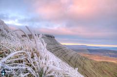 Frozen grass on Pen y Fan (GarethJohns) Tags: autumn mountain wales pen sunrise fan frozen y breconbeacons brecon penyfan 2013