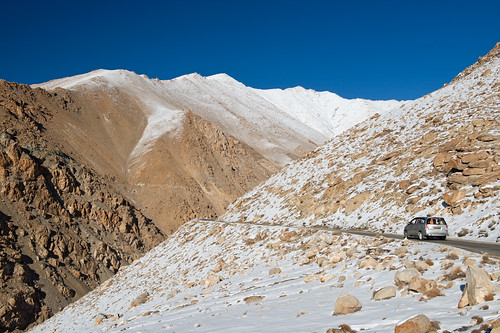 Scenic view of high mountain road in ladakh india
