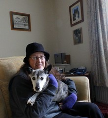 16th Jan Me and sweet Susie (Cardedfolderol) Tags: pets dogs animals canine mammals whippetcross