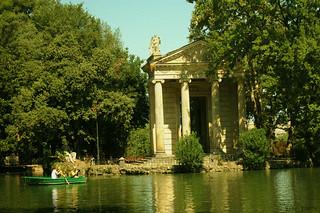Templo de Aesculapius Parque Villa Borghese