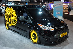 Ford Transit Connect, Detroit Steel Wheels Edition (artistmac) Tags: auto new chicago ford wheel truck illinois automobile steel detroit autoshow il transit van custom upcoming chicagoautoshow paintjob customwheels fordmotorcompany transitconnect detroitsteelwheelco