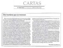 arta al Diario El Mercurio de Valparaíso escrita por Waldemir Lanas H. y aparecida el mismo día martes 18 de abril de 2006.