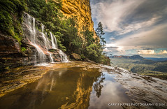 Katoomba Mid Falls & Jamison 01 (Gary Hayes) Tags: sunset lake sydney australia bluemountains wentworthfalls katoombafalls megalongvalley