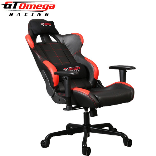 Great GT Omega PRO Racing Office Chairs Black Leather and red x u uca