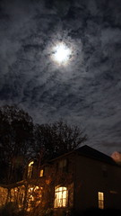 Full moon hiding (sureshbhat) Tags: sky cloud night clouds cloudy sony fullmoon moonrise moonlight nightsky sonyphotographing sonyphotography sonyslta55 sonyslt