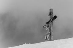 Christ Statue (qwertz1509) Tags: sky sculpture white snow art statue easter death worship heaven christ cross symbol god faith religion jesus belief sacred spirituality catholicism crucified