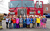 United Methodist Church of Babylon Preschool... (BabylonVillagePhotos) Tags: babylon village fire department united methodist church preschool nursery truck engine hook ladder 128 chief captain lila