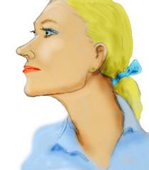 Finally finished (Robin Hutton) Tags: portrait woman beautiful artwork education blond watercolour robinhuttonart