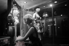 Lingerie Mannequins, French Quarter (enigmaarts) Tags: mannequin monochrome night blackwhite neworleans lingerie frenchquarter storedisplay nightphorography alienskinexposure enigmaartsphotography beckyplexcoenigmaartscom