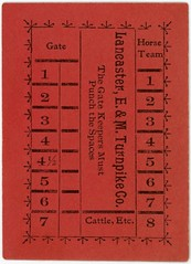 Lancaster, Elizabethtown, and Middletown Turnpike Company Ticket (Rotated) (Alan Mays) Tags: ephemera turnpiketickets tolltickets tickets tolls punchcards cards punches paper printed lancasterelizabethtownandmiddletownturnpikecompany turnpikecompanies companies turnpikes roads tollroads gatekeepers gates horses horseteams cattle route230 pennsylvaniaroute230 paroute230 route283 pennsylvaniaroute283 paroute283 lancaster elizabethtown pa lancastercounty pennsylvania middletown dauphincounty antique old vintage typefaces type typography fonts