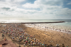 Rabat Beach (aminefassi) Tags: travel sea summer sky people copyright beach clouds canon landscape sand crowd social busy morocco maroc plage  humans costal rabat  6d 2015 ef2470mmf28 oudaia oudaya bouregreg aminefassi