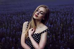 Selfportrait (obiektywna) Tags: red portrait woman selfportrait flower girl canon hair long poland lips polishgirl