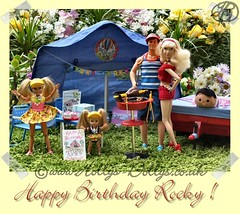 Rocky's 32nd Birthday Camping trip - 31st July 2015 (HollysDollys) Tags: birthday family camping party camp fashion garden toy toys blog stacie inch doll dolls princess emma ken barbie rocky ella tent disney holly story barbecue shelly kelly cinderella 12 ruby dolly stories disneystore 12inch dollies hollys dollie dollys disneydoll hollysdollys