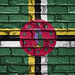 National Flag of Dominica on a Brick Wall