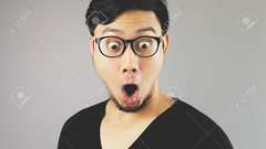 fotocara (jordisantos) Tags: adult amazed amazement asia asian attractive background beard black casual closeup emotion excited expression expressive eyeglasses eyes face fun funny gray grey guy happiness happy head joy looking male man model mouth one open person portrait shock studio surprise thai thailand tshirt wow young