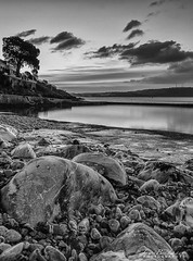 Firestone bay b&w_signed (Jason Bradshaw Photography) Tags: firestonebaysunrise plymouth photography photos ocean rockpool rocks canon canonphotography capture canon400d contrast clouds focus refections tree southwest digitalphotography devon blackandwhite blackandwhitephotography beach monochrome sunrise sea landscapephotography landscape landscapelovers