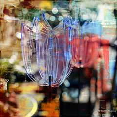 Urban spring (Peter Jaspers (on/off)) Tags: frompeterj© 2017 olympus omd em10 1240mm28 bokeh dof tulp tulip plastic gouda city urban spring lente langetiendeweg voorjaar square vierkant 500x500 abstract texture paint hss sliderssunday picmonkey