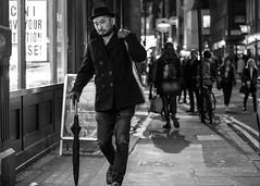 Dean street (Street matt) Tags: streetphotography night street fashion sailor noir hat man candid stylish james dean umbrella blackandwhite photography bw smoking nightlife cool jamesdean