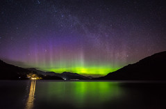 Loch Lomond - Aurora (grahamwilliamson1985) Tags: aurora borealis northernlights scotland loch lomond lochlomond luss longexposure grahamwilliamson milkyway