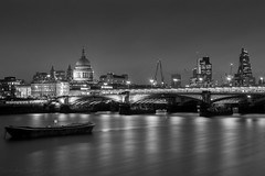 London (Sandy Sharples) Tags: london stpauls longexposure thames cityscape city landscape landmark england monochrome blackandwhite