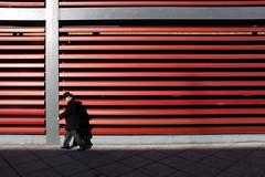 (cherco) Tags: man hombre geometry geometric lonely urban city shadow sombra silhouette silueta ciudad lines light luz colour hat composition composicion canon alone