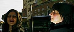 Dark fun. (Baz 120) Tags: candid candidstreet candidportrait city candidface candidphotography contrast colour street streetphoto streetcandid streetphotography streetphotograph streetportrait rome roma romepeople romestreets romecandid europe women urban voigtlandercolorskopar21mmf40 life leicam8 leica primelens portrait people unposed italy italia girl grittystreetphotography flashstreetphotography flash faces decisivemoment strangers