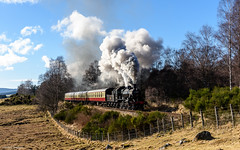 Highland Sun (Articdriver) Tags: steam railway trains locomotive ivatt 2mt 46512 strathspeyrailway aviemore croftnahaven highlands scotland