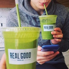 #Repost @giovanna.ventola ・・・ a REAL GOOD reward for finishing the #rsgfit total body workout today! 💪 we came, we sweat, we conquered and now we sippin' 😛 #kalekapowski #flygirl #realgoodjuice (southportcorridorchicago) Tags: instagramapp square squareformat iphoneography uploaded:by=instagram southportcorridor lakeview chicago wrigleyville wrigley southport