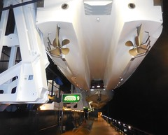Dual Hull Lifeboat on Celebrity Summit (Jeffxx) Tags: rock romance cruise 2017 celebrity summit lifeboat dual hull catamaran propellor underside deck life boat rescue