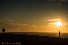 March silhouettes (judethedude73) Tags: waters sun light sussex downs nature sunset dusk people dog