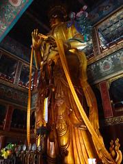 Maitreya, temple des lamas, Pékin (jffourmond) Tags: beijing china chine lamatemple pékin yonghe maitreya