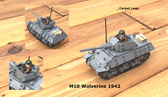 M10 Wolverine (Carpet lego) Tags: lego m10 wolverine ww2 world war two 2 kim kek all techniques for turret omg