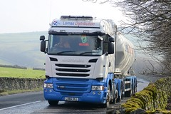 LD66 OLL (panmanstan) Tags: scania r490 wagon truck lorry commercial bulk tanker freight transport haulage hgv vehicle tunstead derbyshire