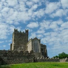 Cotton wool clouds (mrsf1958) Tags: tinternabbey wexford ireland abbey sky clouds photo photography photooftheday