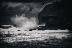 Be afraid... (Lights | Camera | Action Photography) Tags: monavale australia sydney sea ocean clouds storm wave surf dark moody big