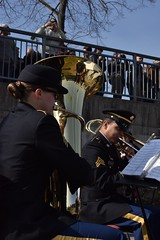 USAREUR Brass quintet plays (U.S. Army Europe) Tags: nierstein germany worldwar ww2 75strong strong strongeurope amphibious nazivictims kornsand engineers 249th history historic rhine rhineriver usareur armyeurope europestrong