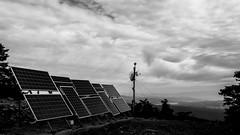 Φλαμπούρι (Giannis Samartzis) Tags: mountain parnitha solar antenna blackwhite bw nikon sky clouds peek hiking trip athens view